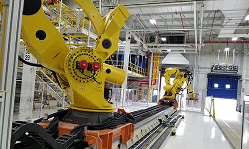 7 axis robot for frame retrieval
