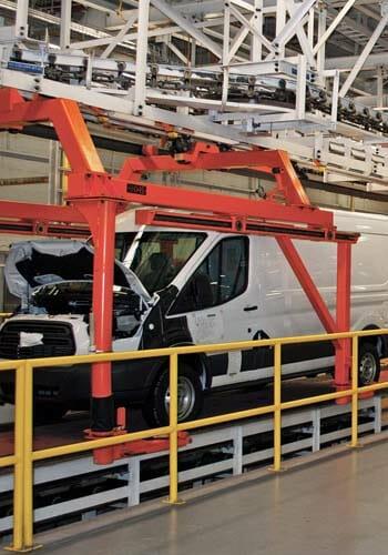 Decking product to Flat Top conveyor