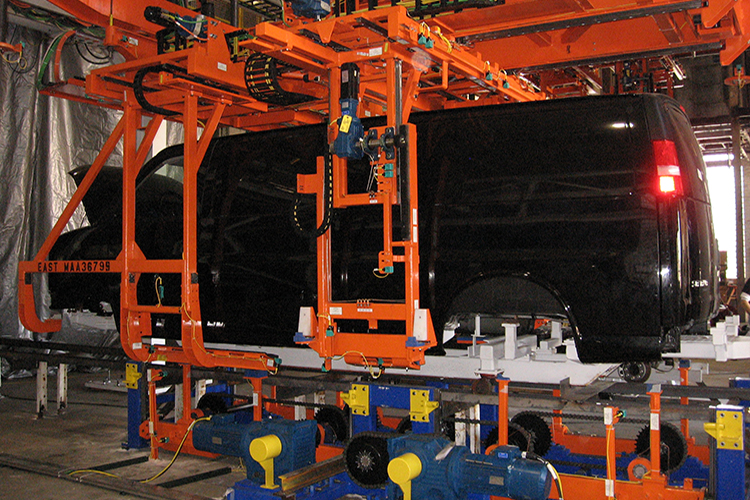 Overhead Crane Repair Kansas City : Body marriage systems cranes and agvs automatic