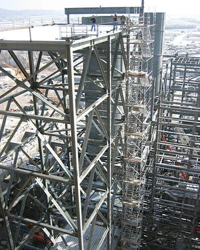 platform structure for bulk conveyors