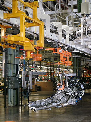 overhead delivery conveyor for automotive application