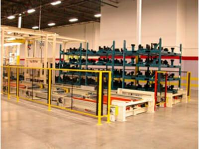 rack and pallet handling system